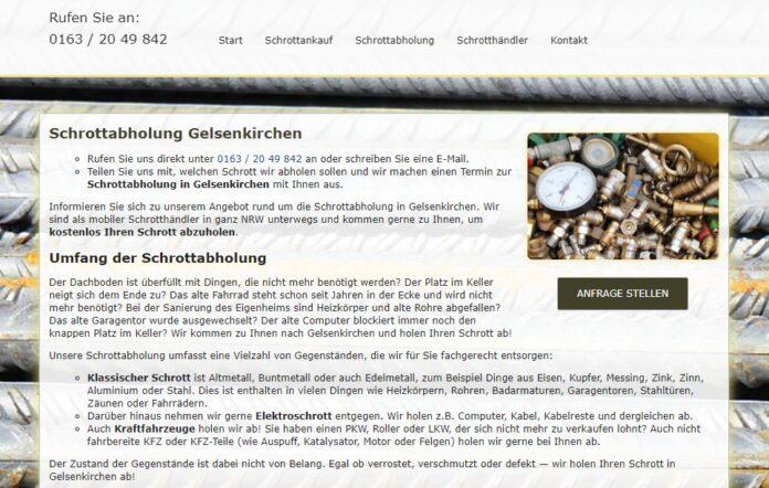 image 1 132 696x442 - Schrottabholung in Gelsenkirchen : Schrotthandel und Demontage garantiert den Schrottankauf zu aktuellen Tagespreisen