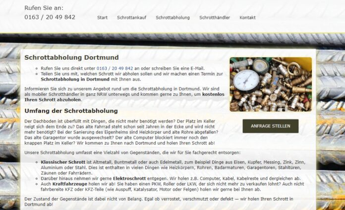 image 1 181 696x425 - Schrottabholung Dortmund : Mit fachkundigem Blick unterstützen wir Sie bei der Sortierung der von Ihnen angelieferten Metalle