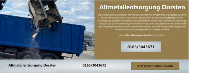 image 1 185 696x234 - Altmetallentsorgung Krefeld Kostenlose Schrottabholung Top-Service ist für den Schrotthandel NRW
