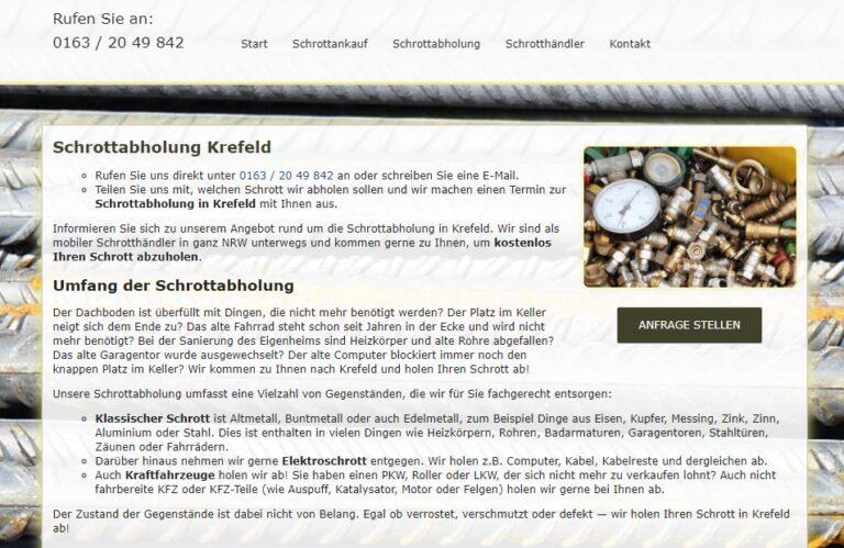 Die Schrottabholung Krefeld holt Ihren Schrott kostenlos bei Ihnen zu Hause ab – Schrott-Ankauf-NRW