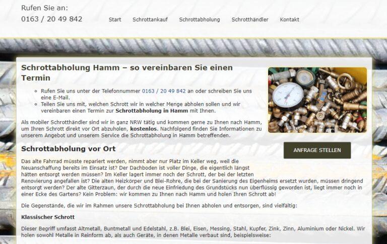 Schrottabholung und Schrottankauf: alles aus nur einer Hand in Hamm