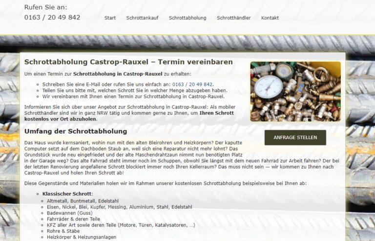 Schrott Entsorgung in Castrop-Rauxel