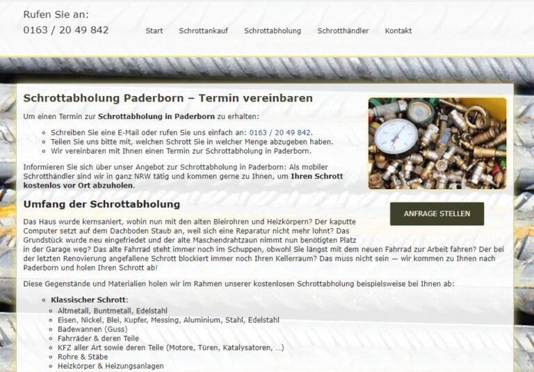 Schrott & Metallhandel in Paderborn