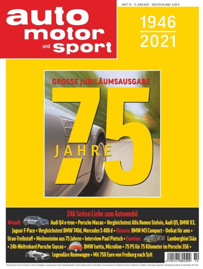 image 1 101 696x924 - Go for Gold: AUTO MOTOR UND SPORT feiert sein 75-jähriges Jubiläum mit einer ganz besonderen Ausgabe
