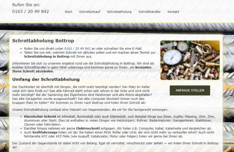 Schrottabholung in Bottrop – Schrott-Ankauf-NRW