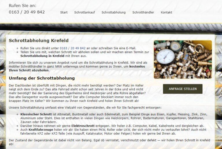 Schrottabholung Krefeld – Schrott-Ankauf-NRW
