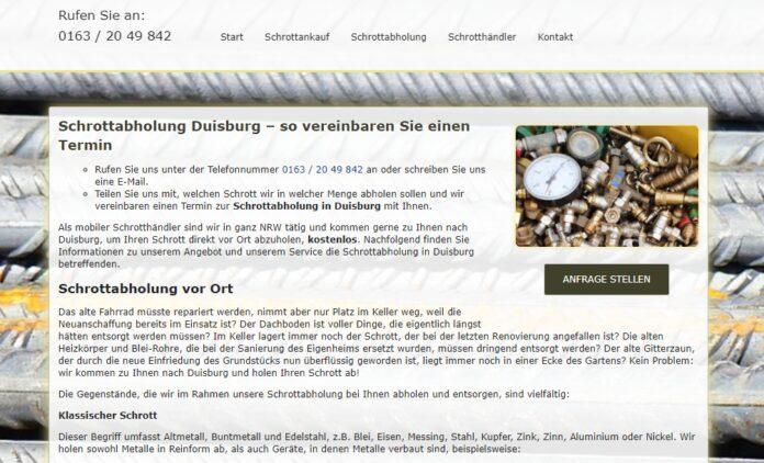 image 1 109 696x422 - Kostenlose Schrottabholung in Duisburg zum Wunschtermin