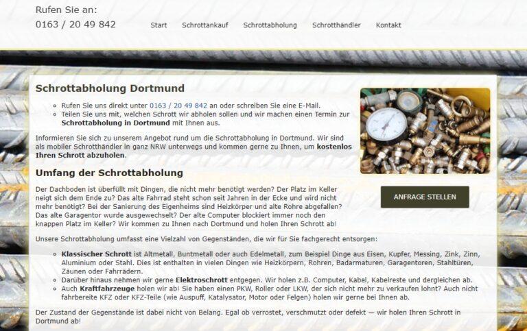 Schrottabholung Dortmund : Wir holen Schrott kostenlos in Dortmund und Umgebung ab