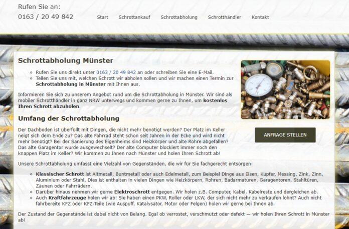 image 1 127 696x458 - Unser Team aus mobilen Schrotthändlern holt Ihren Schrott in Münster kostenlos