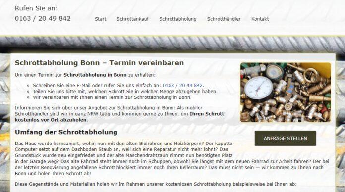 image 1 141 696x388 - Schrottabholung Bonn : Komplizierte Schrottdemontagen führen Schrotthändler aus Bonn