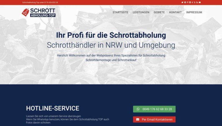 Schrottabholung TOP in NRW: Wir sind für Sie da