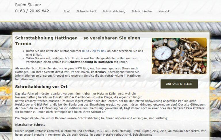 Schrottabholung in Hattingen : Was passiert nach der Abholung?