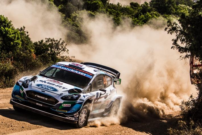 Alle drei Fiesta von M-Sport Ford erreichen das Ziel einer extrem harten Rallye Italien auf Sardinien