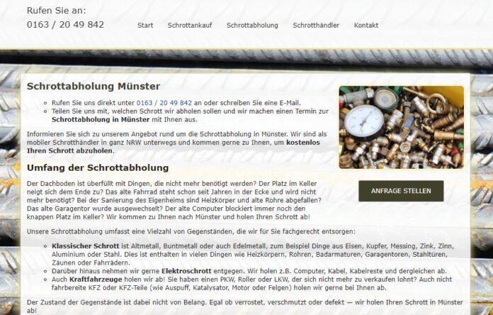 image 1 49 696x444 - Schrottabholung Münster : Wir sammeln alle Altmetalle und Eisen