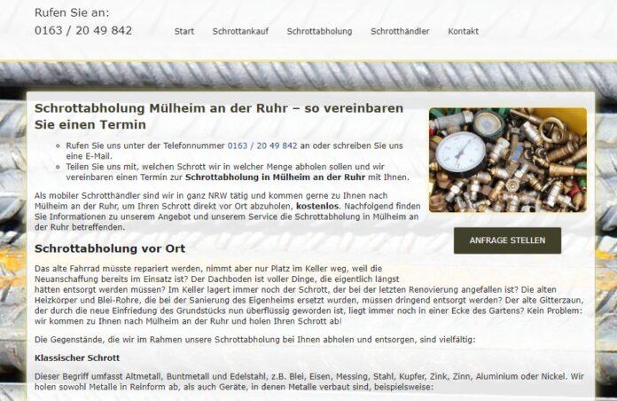 image 1 59 696x452 - Schrottabholung in Mülheim an der Ruhr : Ihr starker Partner in der Altmetallsammlung in ganz Nordrhein-Westfalen
