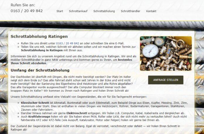 image 1 70 696x456 - Schrottabholung Ratingen: Holen Ihren Schrott kostenlos ab