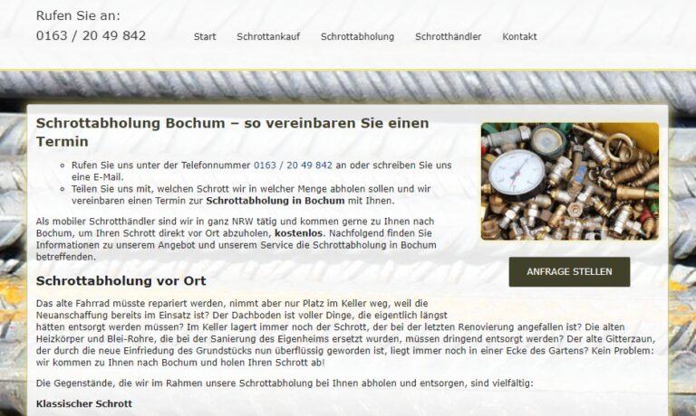 Schrottabholung Bochum: Verdienen Sie bares Geld mit Ihrem Schrott