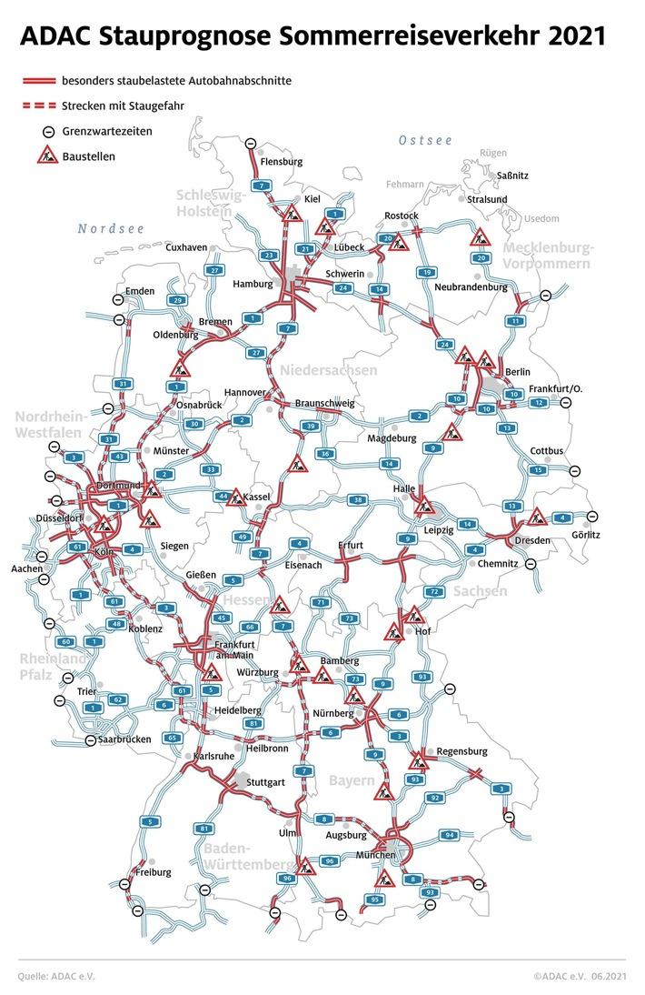 Ferienstart in Baden-Württemberg und Bayern / ADAC: Staus in allen Richtungen / Stauprognose für 30. Juli bis 1. August