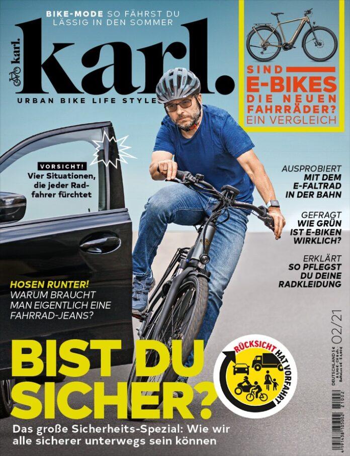 image 1 92 696x907 - Mehr Sicherheit für Radfahrer gerade im engen Stadtverkehr - Radmagazin Karl plädiert für mehr gegenseitige Rücksicht
