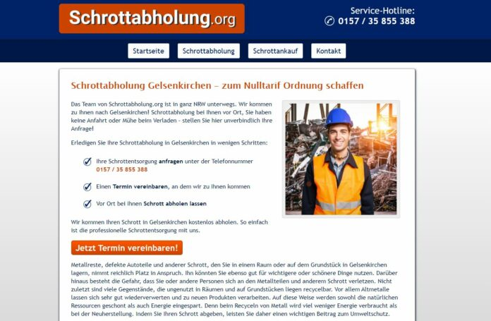 image 1 208 696x455 - Schrotthändler in Gelsenkirchen fachgerecht entsorgen kostenlos inklusive Demontage für Privat und Firmenkunden
